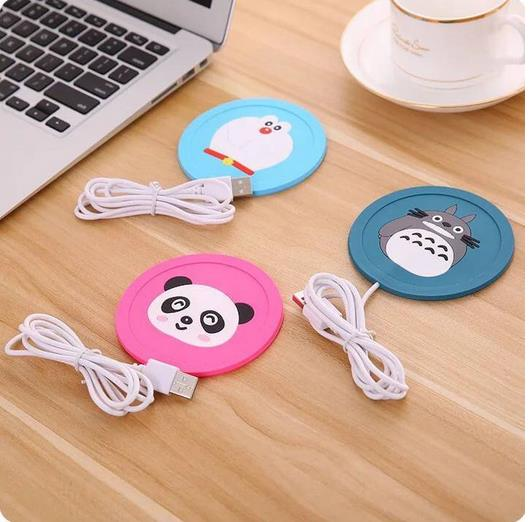 10pcs/lot doraemon cute heating function Silicone Coasters Cup thermo Cushion Holder coffee Coasters Cup Mat toys