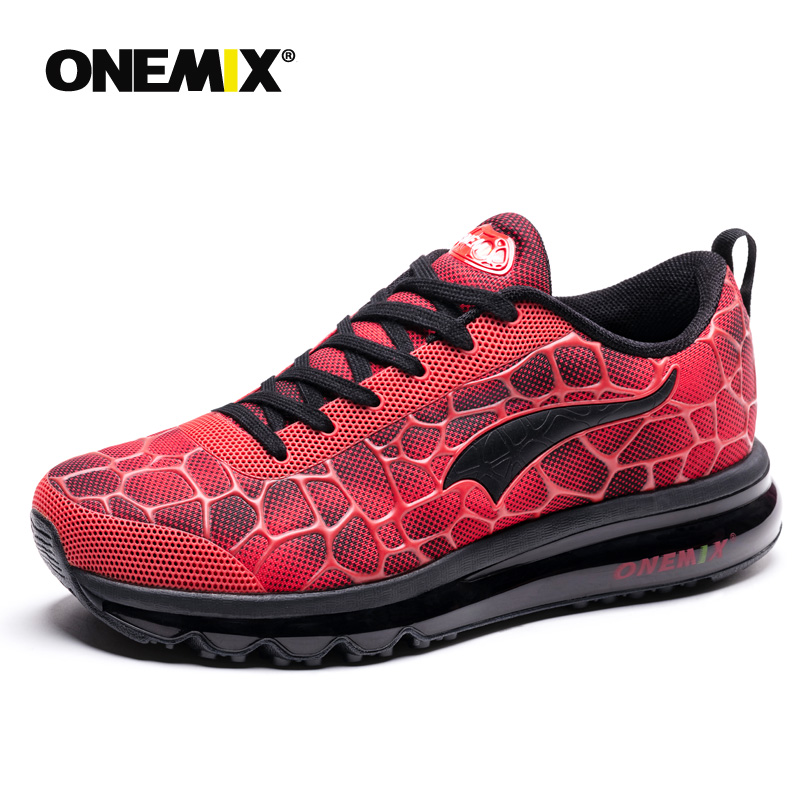 Onemix Men Running Shoes For Male Nice Zapatillas Athletic Trainers Black Sports Outdoor Jogging Walking Sneakers