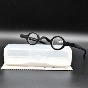 Круглые мини-очки ReeXunky для чтения, мужские и женские черные и красные очки TR90 в ретро-оправе, очки с увеличительным фокусным расстоянием 1,5 2,0...
