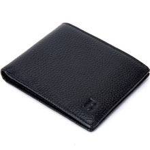 SUONAYI Famous Brand Genuine Leather Wallet Wallets With Coin Pocket Thin Purse Card Holder For Men Fashion Slim все цены