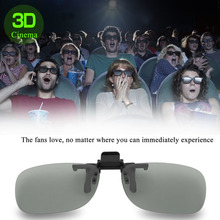 Professional 3D Light Weight Man Woman Clip On Type Passive Circular 3D Glasses Clip For 3D TV Movie Cinema