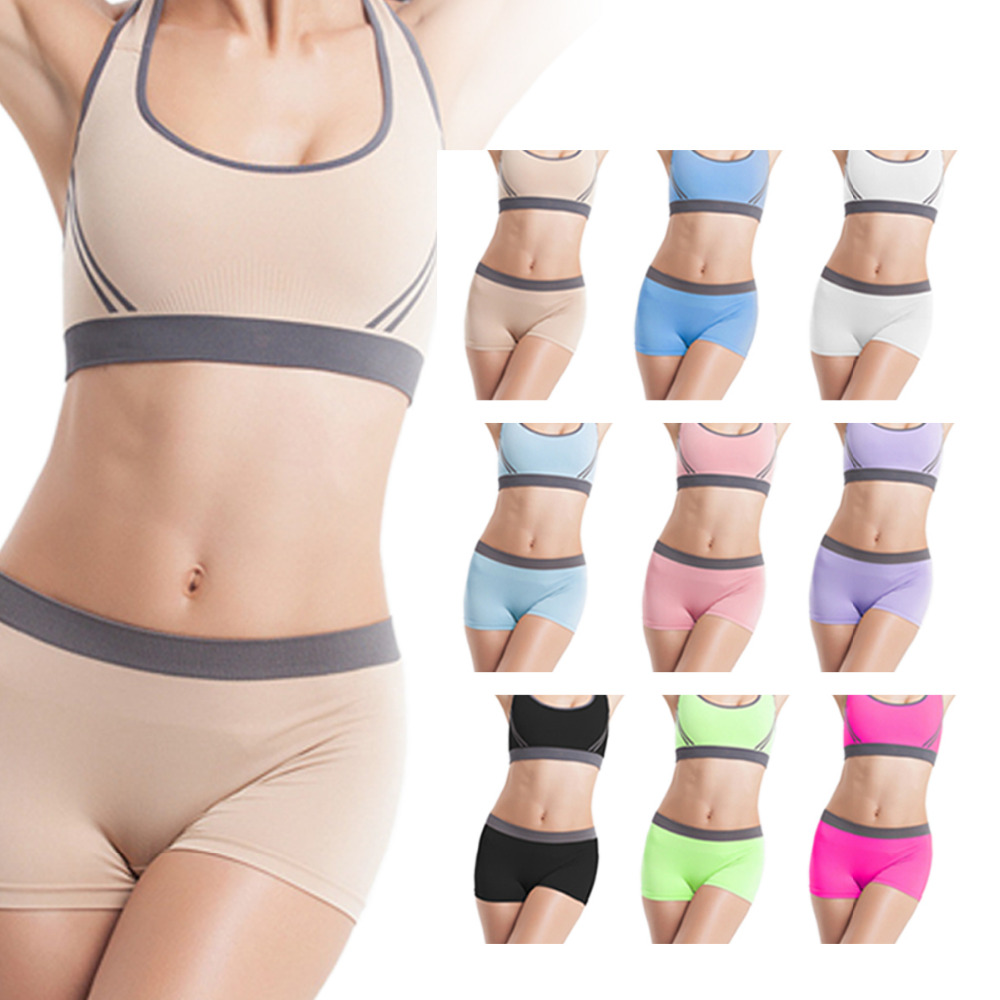 Two Pieces Women s Gym Outfit Set Sports Bra Fitness Workout Underwear  Training-in Sports Bras from Sports   Entertainment on Aliexpress.com  cd16e2ec914e