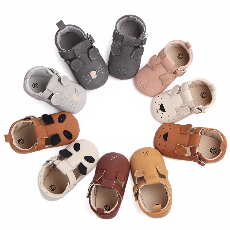 0-18M Unisex Toddler Baby Shoes For Boy And Girls Animal Soft PU Leather Moccasins Shoe With Newborn Shoes First Walker