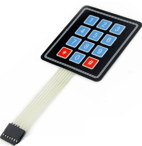 2 PCS New 3 x 4 12 Key Matrix Membrane Switch Keypad Keyboard
