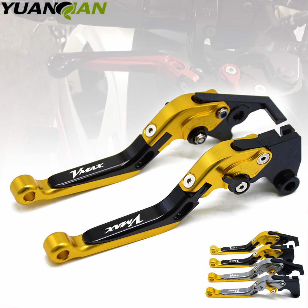 For Yamaha V-MAX VMAX 1200 1985 - 2007 Foldable Extendable Brake Clutch Levers 1997 1998 1999 2000 2001 2002 2003 2004 2005 2006 1 pair motorcycle brake clutch levers for yamaha t max tmax 500 2001 2002 2003 2004 2005 2006 2007 2008 motor right left levers