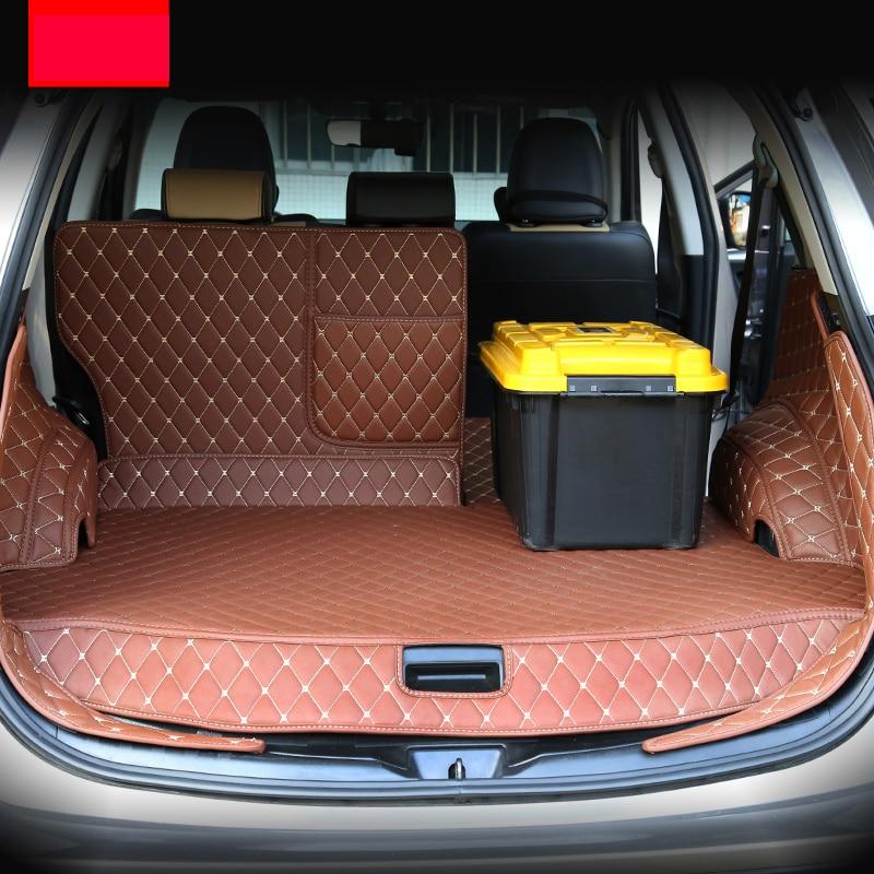 Lsrtw2017 en cuir de fiber de tapis de coffre de voiture pour toyota rav4 2012 2013 2014 2015 2016 xa40