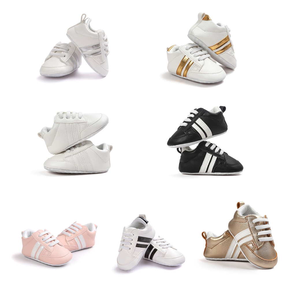 New Baby Moccasins Infant Anti-slip PU Leather First Walker Soft Soled Newborn 0-1 Years Sneakers Branded Baby Shoes