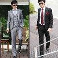 2016 nova chegada terno masculino, luxo dos homens ternos moda casual, two-pieces blazer + calças, magro dos homens do vestido de casamento