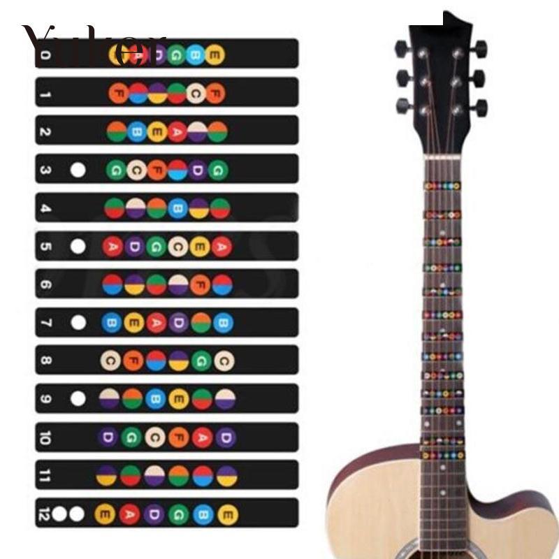 electric guitar musical scale sticker fretboard decal for beginner learner in guitar parts. Black Bedroom Furniture Sets. Home Design Ideas