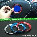 Liga de alumínio Styling direcção do carro roda etiqueta decoração anel para Mercedes - Benz B E S CLA CLS GLK GLE GLA vidro