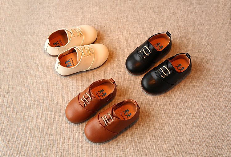 Spring Children Casual Shoes Baby Boys England Style Leather Shoes Girls Soft Bottom Shoes Kids Flats High Quality Sneakers C243 4