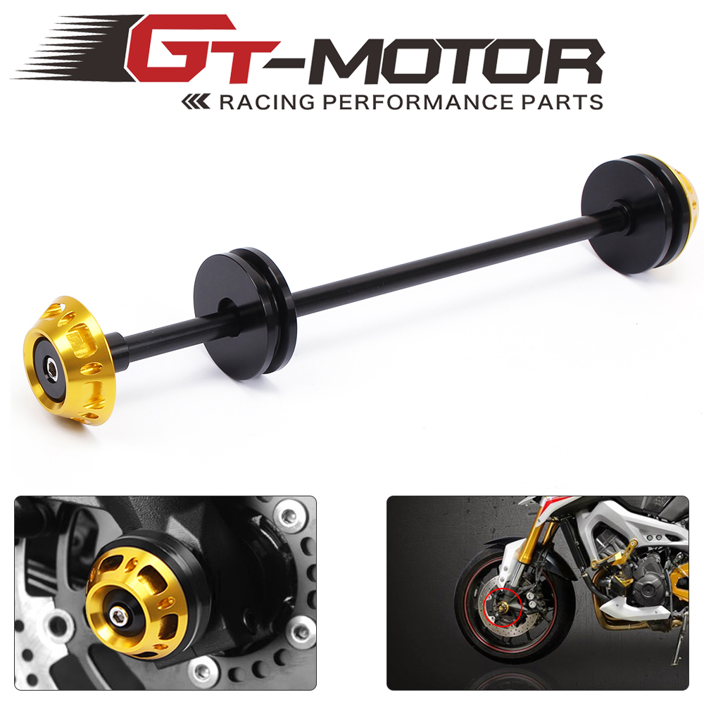 GT Motor- Motorcycle CNC Front Axle Slider Frame Sliders Crash Protector For Kawasaki Z800 2013-2015 Z1000 2011-2015