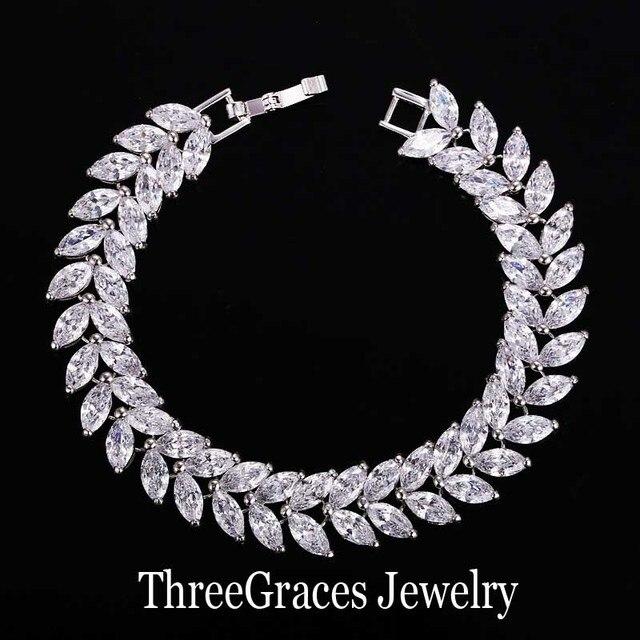 3cf7a367c017 Gorgeous Marquise Cut Oro Blanco Plateado Claro Cúbicos Zirconia Creado  Diamante de dama de Honor de