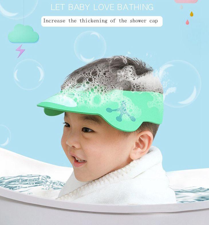 1pc Lovely Adjustable Baby Hat Toddler Kids Shampoo Bathing Shower Cap Wash Hair Visor Caps For Baby Care