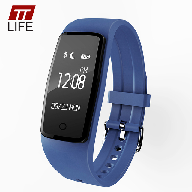 Original TTLIFE Fitness Tracker Pedometer Smart Wristband Touch Key Smart Bracelet Heart Rate Monitor Smart Watch IOS Android
