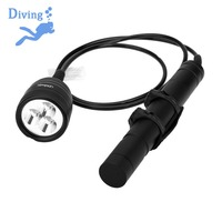 Asafee Canister Scuba Diving Light Torch 10 Degree Cree XM L2 U4 Waterproof LED Dive Light 26650 Canister Dive Primary Light