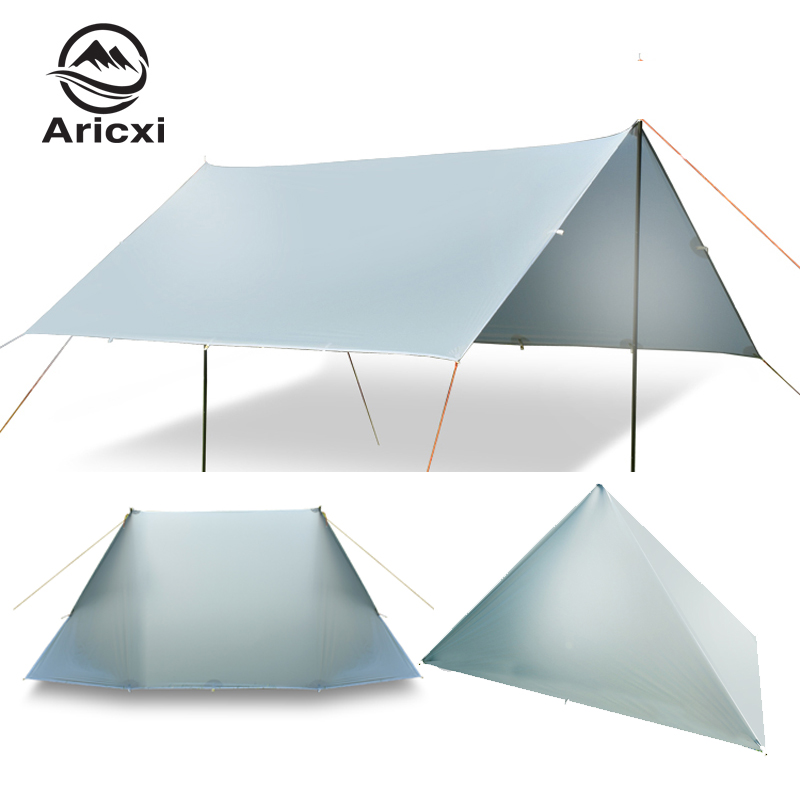 ARICXI 15D silicone coated nylon ultra light tarp Outdoor awning tarp light weight portable camping shelter