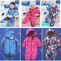 Free Shipping LUPILU Baby Autumn Winter Romper Cotton Padded One Piece Children Kids Jumpsuit 3months 2Years