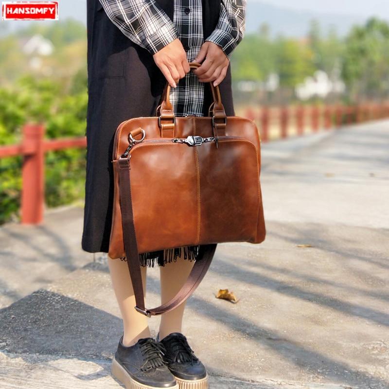 2018 nuevo bolso de mano de mujer retro a la moda simple bolso de ordenador portátil bolsa de ordenador de mujer-in Bolsos de hombro from Maletas y bolsas    1