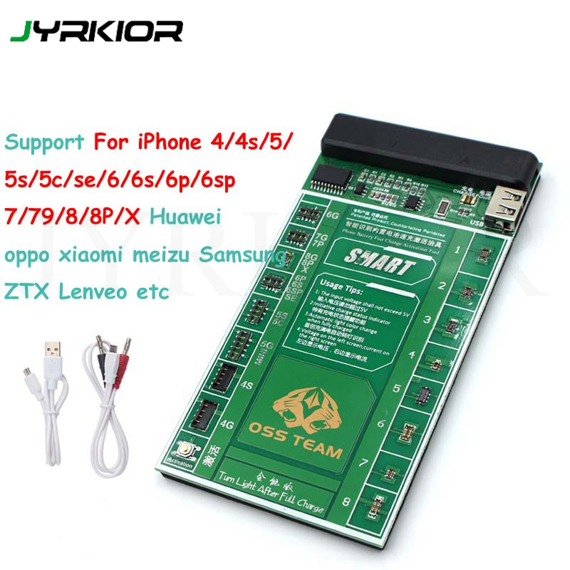 Jyrkior For IPhone 8 8 Plus X XR XS MAX Samsung Battery Tester/Charger Charging Activation Circuit Board Tester Digital Display