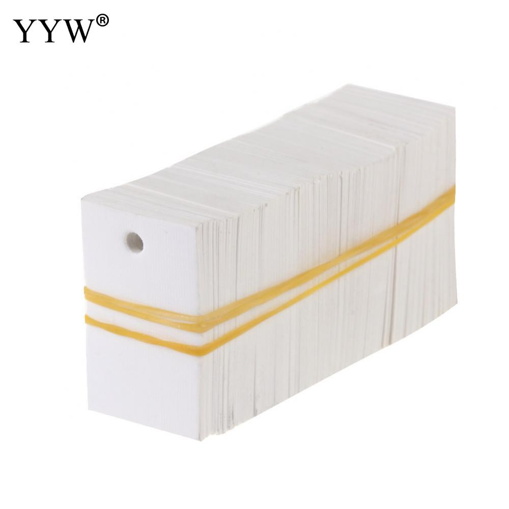100pcs 23x36mm Wholesale Jewelry Price Tag Display Rectangle Blank White Custom Printing Lable Clothing Price Tags Accessories