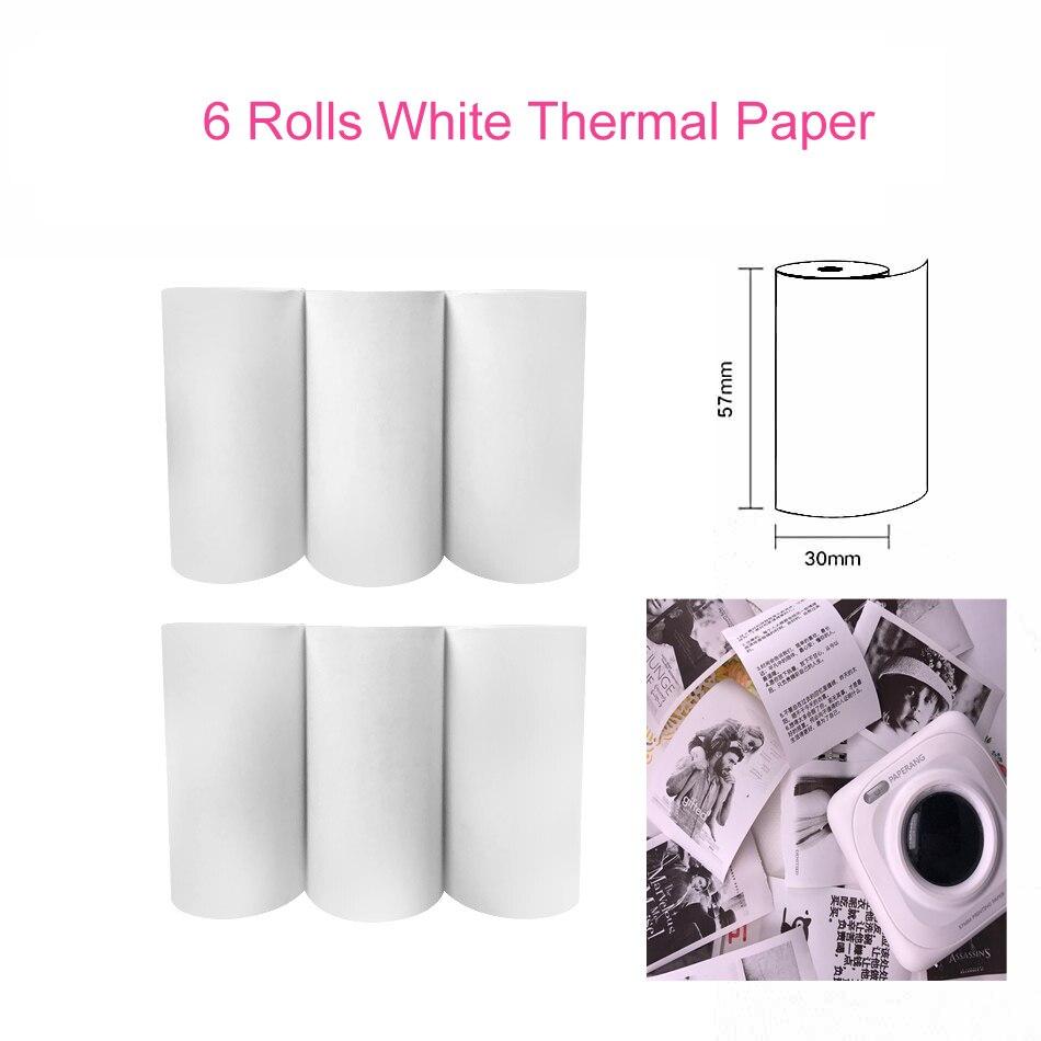 Термальность Бумага этикетка бумажный стикер Бумага для PeriPage Бумага, которые только начинают фотопринтер - Цвет: White Thermal Paper