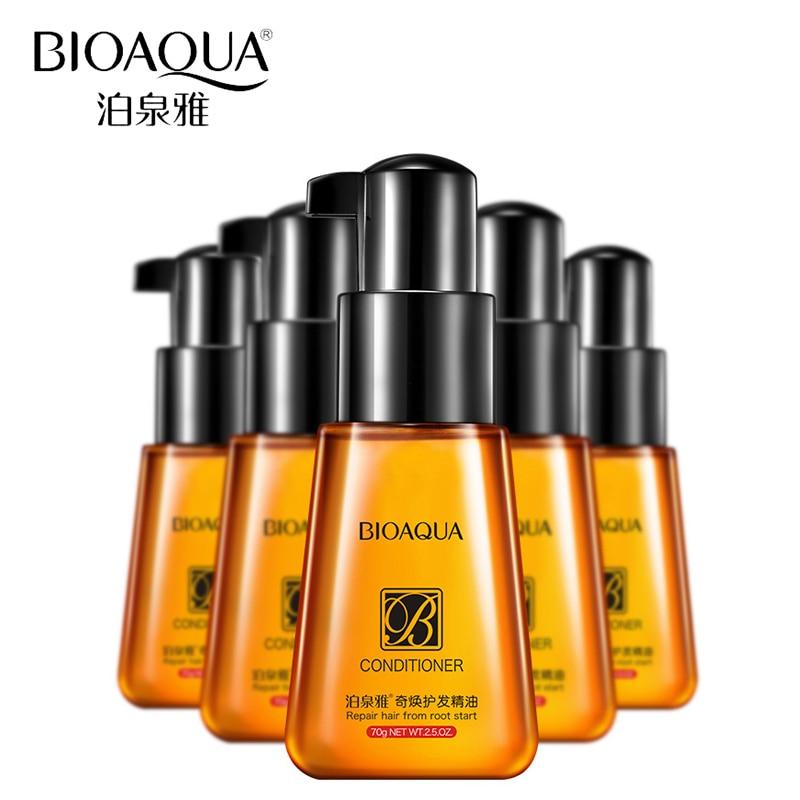 BIOAQUA Acondicionador para el cabello Nutrición nutritiva Aceite esencial Mascarilla desechable para el cabello Reparación de bifurcaciones para el cuidado del cabello seco y dañado