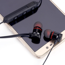 Magnet Wireless Bluetooth Sports Earphone Headset Headphone for iPhone Samsung Huawei XJ66 portable wireless bluetooth earphone headphone car charger 2 in 1 bluetooth headset fast phone charger for iphone huawei samsung