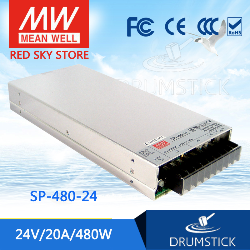 цена на Selling Hot MEAN WELL SP-480-24 24V 20A meanwell SP-480 24V 480W Single Output with PFC Function Power Supply