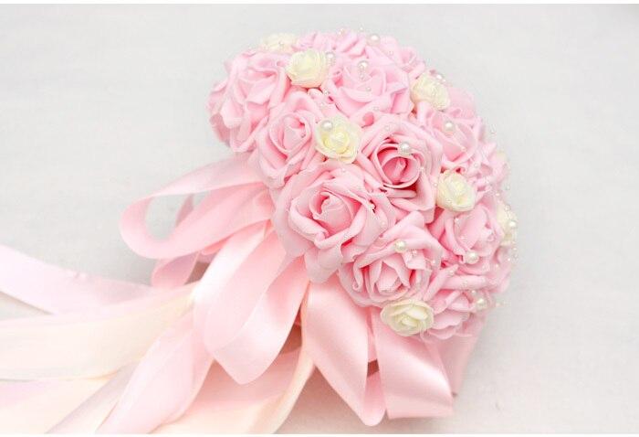 Wholesale artificial wedding flower bouquet holder rose wedding ...