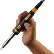 Электрический паяльник 220 В ручка для сжигания древесины Электрический паяльник набор сварочных аксессуаров с европейской вилкой