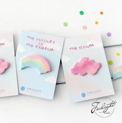 A cor do arco-íris nuvem bloco de notas pegajosas memorando caderno papelaria escolar suprimentos