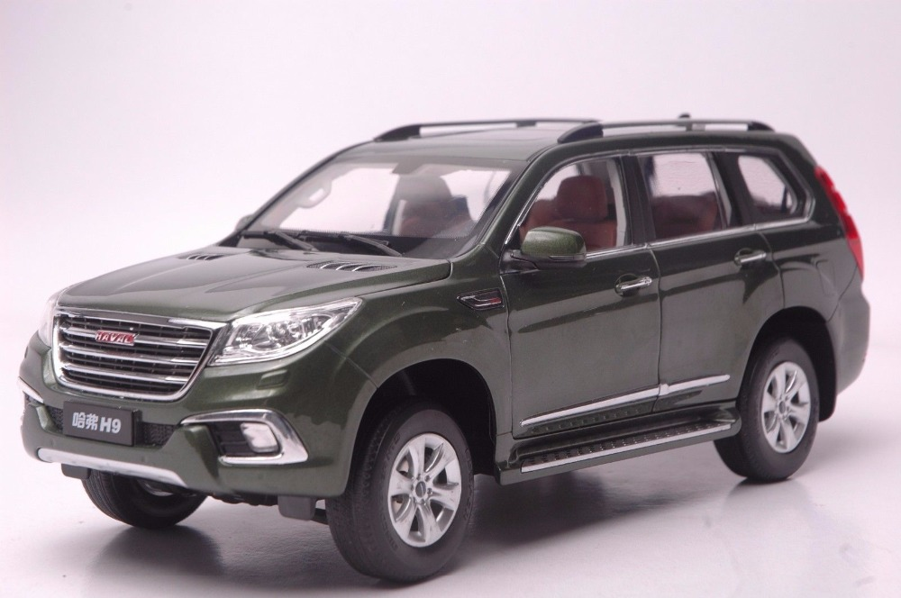 1:18 Diecast Model for Great Wall Haval H9 Green SUV Alloy Toy Car Miniature Collection Gift 1 18 vw volkswagen teramont suv diecast metal suv car model toy gift hobby collection silver