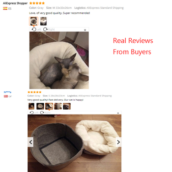 Soft Comfortable Cat Bed 4