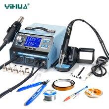 YIHUA 992DA + BGA паяльная станция ремонтная доска паяльная станция с фена паяльник дым вакуум 110 В/220 В