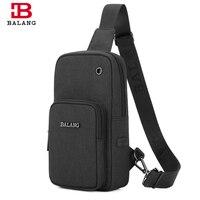BALANG Brand Men Chest Pack Waterproof Messenger Bag For 7 9 Ipad Fashion Travel Shoulder Bags