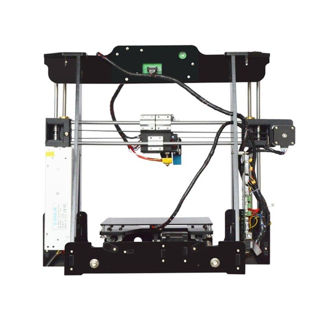(Expédier DE DE) Portable bricolage 3D Kits d'imprimante bureau éducatif imprimante 3D taille d'impression 220x220x240mm Kits en métal complet EU Plug