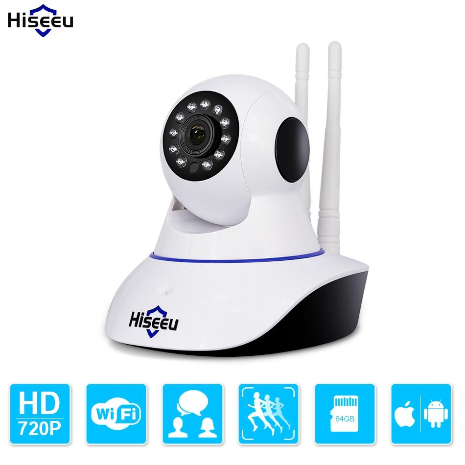 imágenes para Hiseeu HD 720 P Inalámbrica Cámara IP Wifi Visión Nocturna wi-fi cámara de Alta Calidad de la Cámara de Red IP CCTV WIFI P2P Seguridad cámara