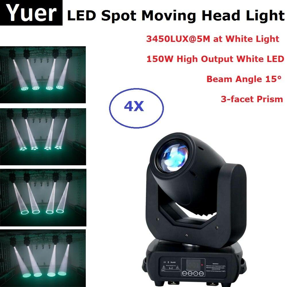 DMX LED Spot tête mobile 150 W blanc LED tête mobile fête lumière parfaite pour DJ scène fête Concert événement éclairage Disco lumière