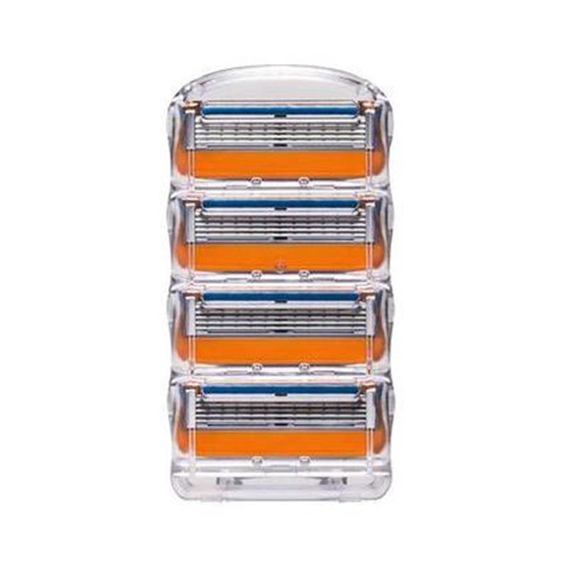 Бритвенные лезвия для мужчин, 4 шт. в упаковке, лезвия для бритья, для замены Gilett Fusion, Gillette Proglide