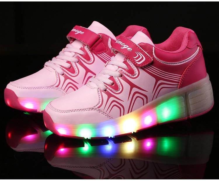 ... Lighted Flashing Roller Skates Sneakers Dengan Roda ... Source ·  Aliexpress.com   Buy Anak anak sepatu roda heelys 45a36e9753