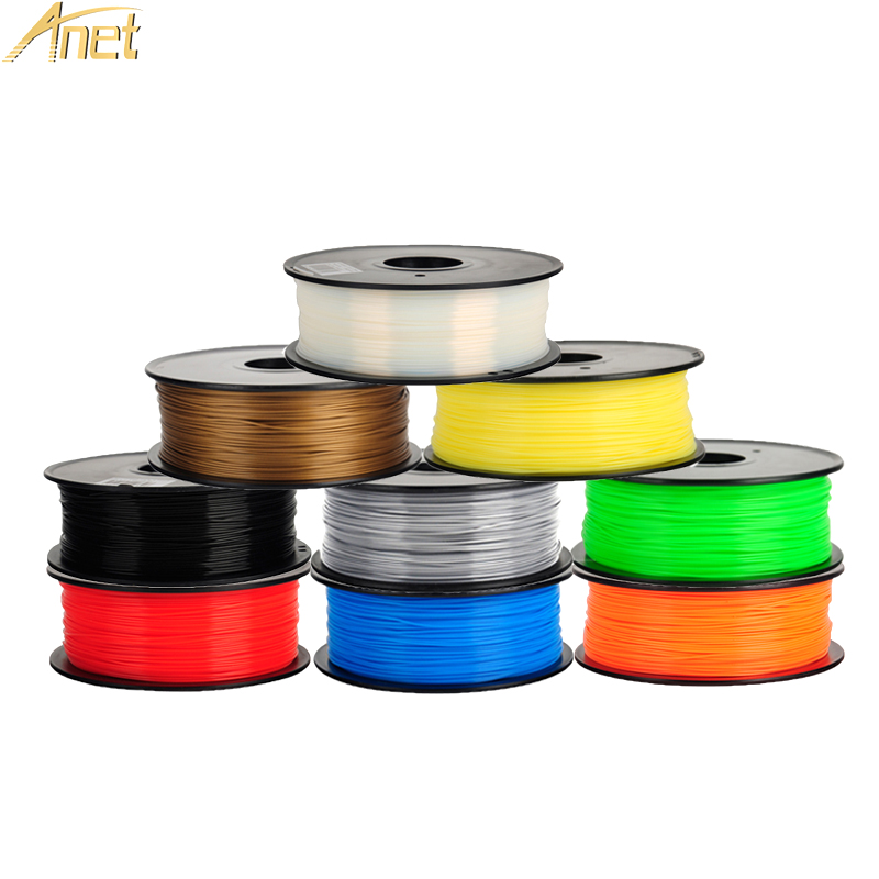 3d Printing Materials 1 kg/roll 1.75mm para impressora 10 Colors : Red, yellow, black, glod, white, blue, green, orange, sliver, transparent