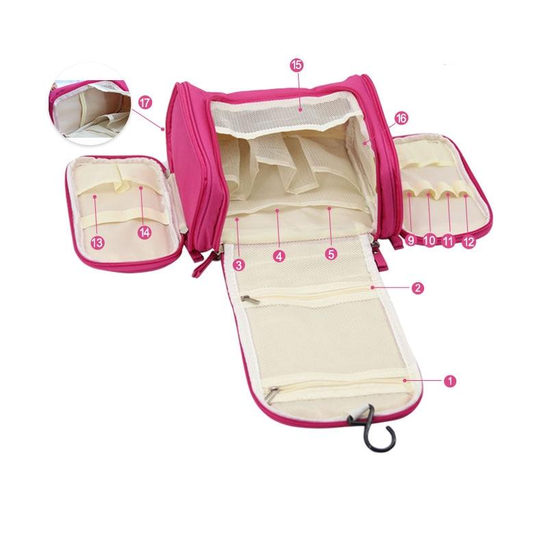 Waterproof Travel Organizer Bag Unisex Hanging Makeup Storage Bags - Organisasi dan penyimpanan di dalam rumah - Foto 4