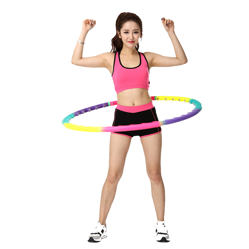 2019 Yoga Waist Exercise Slimming Magnet Sport Hoops Gymnastics Ring Hard Tube Circle Women Kids Reduce Weight Fitness Equipment