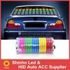 Autocollant de voiture Flash coloré de différentes tailles, feuille de rythme de musique, lampe légère, son, égaliseur activé par la musique, autocollants de voiture