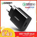 Ugreen USB Charger 18W Quick Charge 3.0 Mobile Phone Charger for iPhone Fast QC 3.0 Charger for Huawei Samsung Galaxy S9+ S10