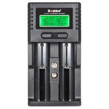Soshine LCD Chargeur de Batterie Universel Double Canal pour Rechargeable Li-ion 9 V/3.7 V/3.2 V Selesctable 26650 18650 18500 AA AAA