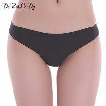 DeRuiLaDy Underwear Women Spandex Shorts Panties Vs Victoria Underwears Solid Black Pink Blue Lingerie Thong Hipster Panty
