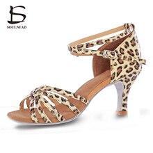 2017 Summer New Arrivals Women Ladies Ballroom Latin Dance Shoes High Heel Soft Sole Professional Tango