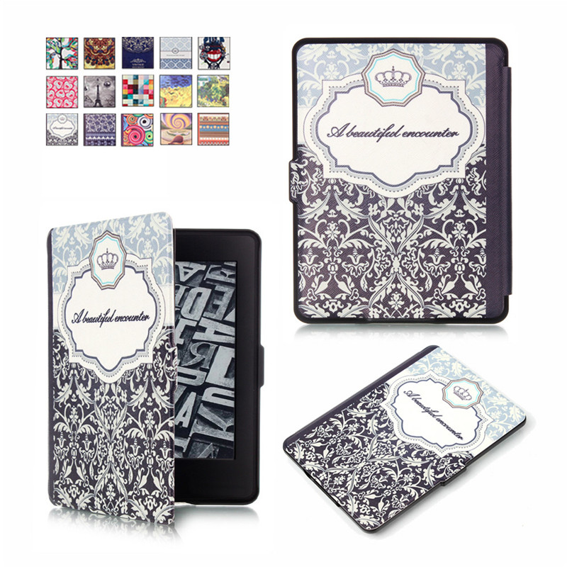MAX-Q Luxury Elegant Smart Magnetic Ultra slim Pu leather case cover for Amazon funda kindle paperwhite 3 2 1(New model)